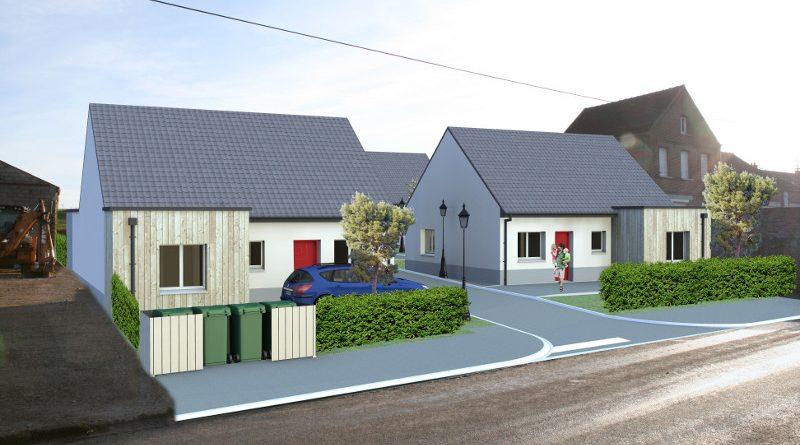 Les 4 futurs logements locatifs : 2 logements individuels en façade